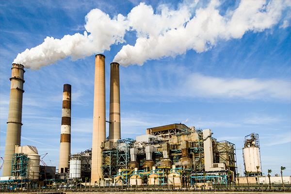 An image of an industrial plant